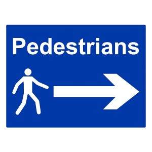 Pedestrians - Arrow Right - Landscape - Large