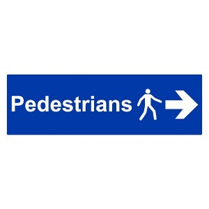 Pedestrians - Arrow Right - Landscape