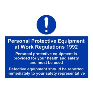 Personal Protective Equipment At Work Regulations 1992 - Landscape - Large