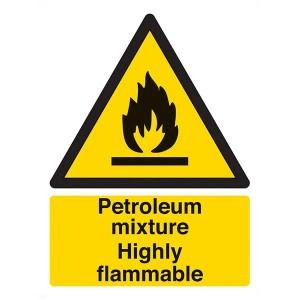 Petroleum Mixture Highly Flammable - Portrait