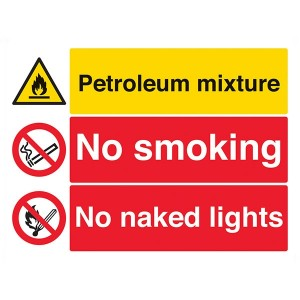 Petroleum Mixture / No Smoking / No Naked Lights - Landscape - Large