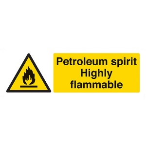 Petroleum Spirit Highly Flammable - Landscape
