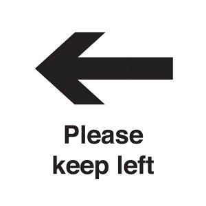 Please Keep Left - Square