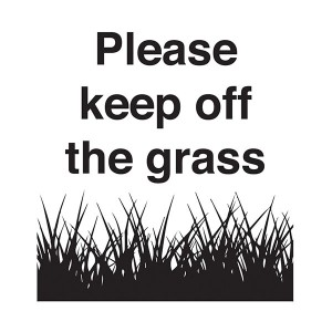 Please Keep Off The Grass - Square