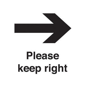 Please Keep Right - Square