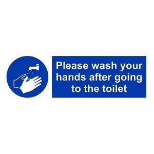 Please Wash Your Hands After Going To The Toilet - Landscape