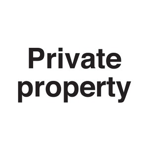 Private Property - Landscape - Large