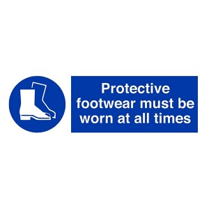 Protective Footwear Must Be Worn At All Times - Landscape