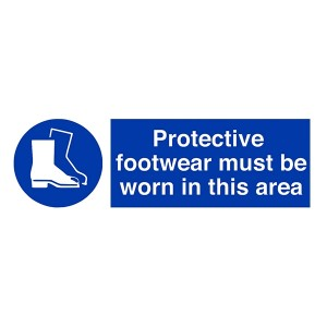 Protective Footwear Must Be Worn In This Area - Landscape