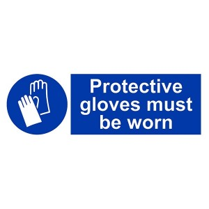 Protective Gloves Must Be Worn - Landscape