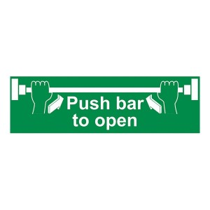Push Bar To Open - Landscape