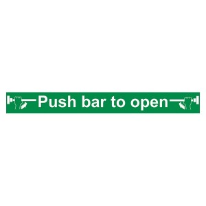 Push Bar To Open - Long Landscape