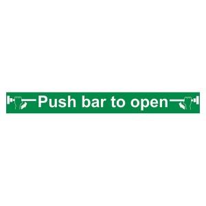 Push Bar To Open - Long Landscape