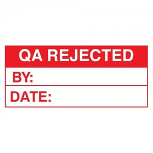 QA Rejected Stickers - Landscape