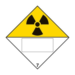 Radioactive 7 UN Substance Numbering - Diamond - Square