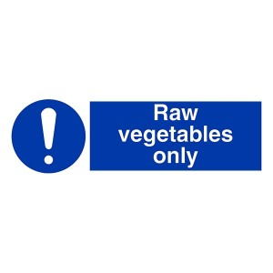 Raw Vegetables Only - Landscape