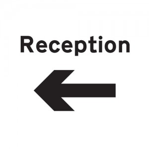 Reception Arrow Left - Landscape - Large