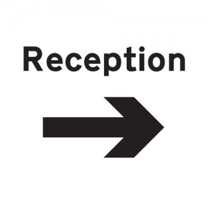 Reception Arrow Right - Landscape - Large