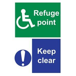 Refuge Point / Keep Clear - Portrait