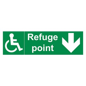 Refuge Point Arrow Down - Landscape
