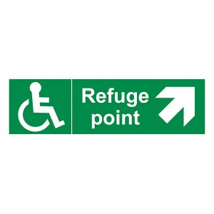 Refuge Point Arrow Up And Right - Landscape