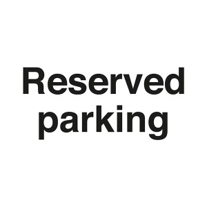 Reserved Parking - Landscape - Large