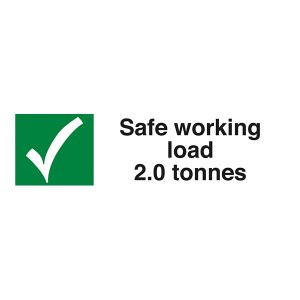 Safe Working Load 2.0 Tonnes  - Landscape
