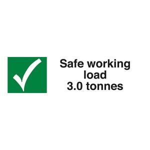Safe Working Load 3.0 Tonnes  - Landscape