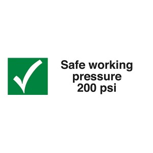 Safe Working Pressure 200 Psi - Landscape