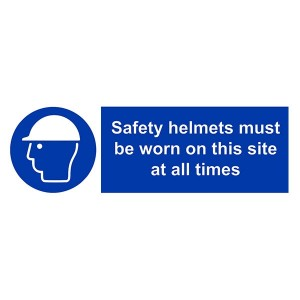 Safety Helmets Must Be Worn On This Site All The Times - Landscape