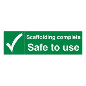 Scaffolding Complete Safe To Use - Landscape