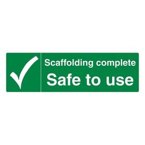 Scaffolding Complete Safe To Use - Landscape