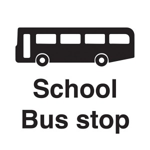 School Bus Stop - Square