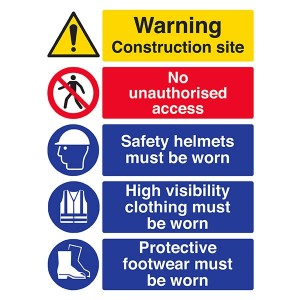 Site Safety - Construction Site / High Visibility / Protective Footwear - Portrait