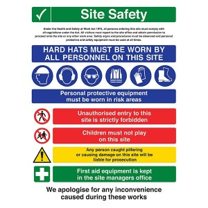 Site Safety - Unauthorised Entry Is Forbidden - Portrait
