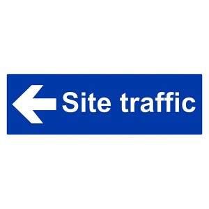 Site Traffic Arrow Left - Landscape