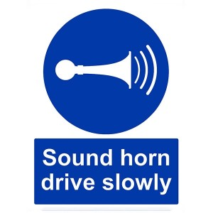 Sound Your Horn Drive Slowly - Portrait