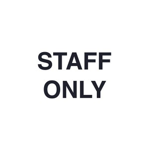Staff Only - Landscape - Large
