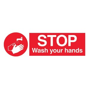 Stop Wash Your Hands - Landscape