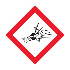 Explosives Symbol - Diamond - Square