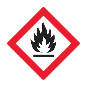 Oxidizing / Highly Flammable Symbol - Diamond - Square