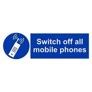 Switch Off All Mobile Phones - Landscape