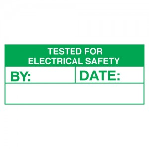 Tested For Electrical Safety Stickers - Landscape