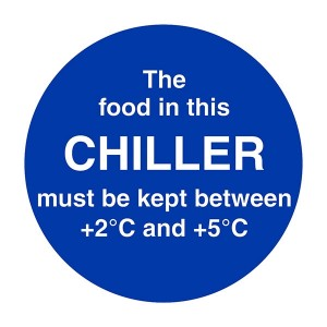 The Food In This Chiller Must Be Kept Between +2C and +5C - Square