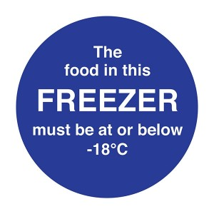 The Food In This Freezer Must Be At Or Below -18C - Square