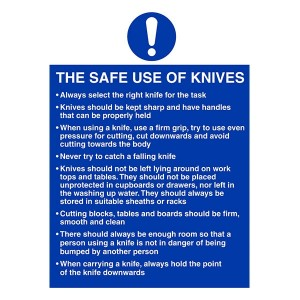 The Safe Use Of Knives Instructions - Portrait