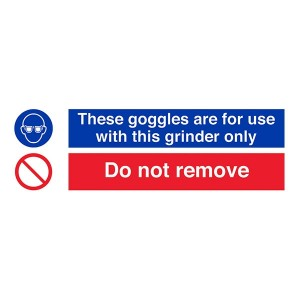 Goggles For Use With Grinder Only / Do Not Remove - Landscape