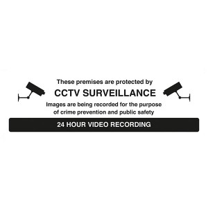 These Premises Are Protected By CCTV Surveillance - 24 Hour Video Recording - Landscape
