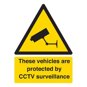 These Vehicles Are Protected By CCTV Surveillance - Portrait