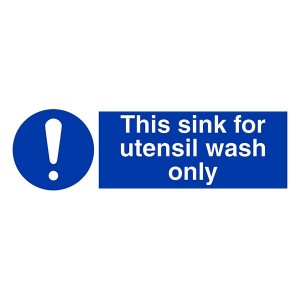 This Sink For Utensil Wash Only - Landscape